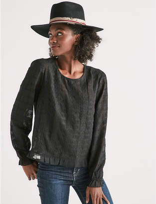Lucky Brand LONG SLEEVE LACE TOP