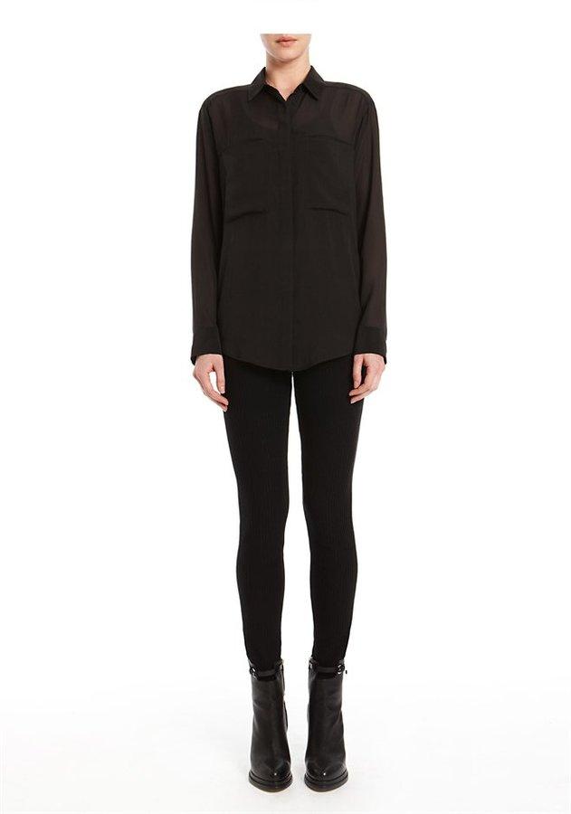 Silk Chiffon Cdc Long Sleeve Shirt