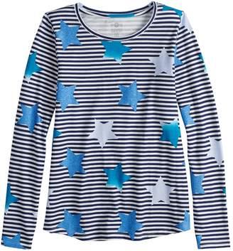 d07a7a9f012 Navy Blue Long Sleeve Shirt For Girls - ShopStyle