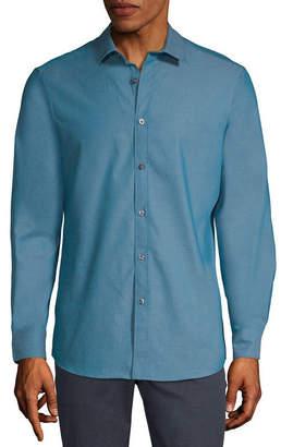 AXIST Axist Mens Long Sleeve Diamond Button-Front Shirt