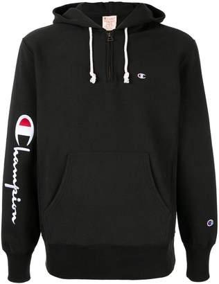 Champion logo zipped hoodie