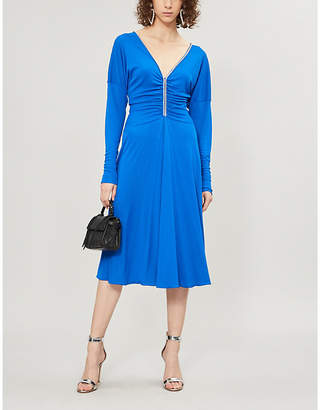 Emilio Pucci Ruched embellished jersey midi dress