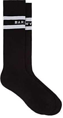 Barneys New York Women's Logo Stretch-Cotton Mid-Calf Socks