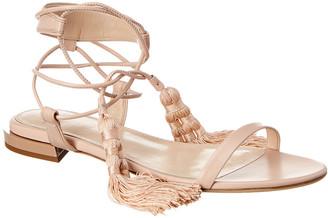 Lanvin Tassel Leather Sandal