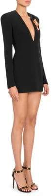Versace V-Neck Silk Mini Dress