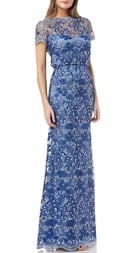 JS Collections Embroidered Evening Gown
