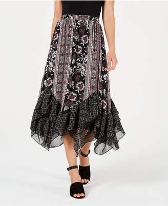 Style&Co. Style & Co Tiered Handkerchief-Hem Boho Skirt