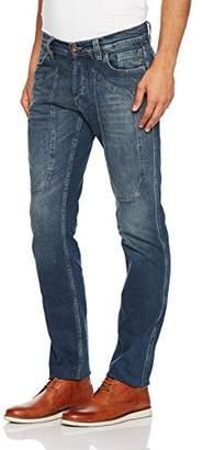 Jeckerson Men's 5Pkts Patch True DNM 12 Oz Slim Jeans,(Size: 35)