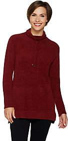 Isaac Mizrahi Live! SOHO Drawstring Funnel NeckTunic Sweater