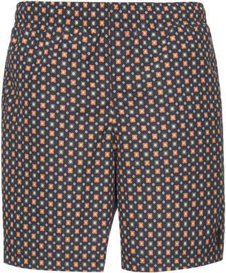 Alexander McQueen Floral-Print Swim Shorts