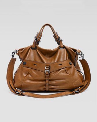 Kooba Desmin Leather Handbag, Brown