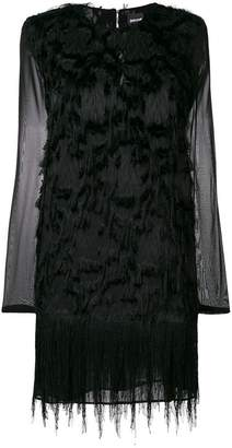 Just Cavalli feather embellished dress