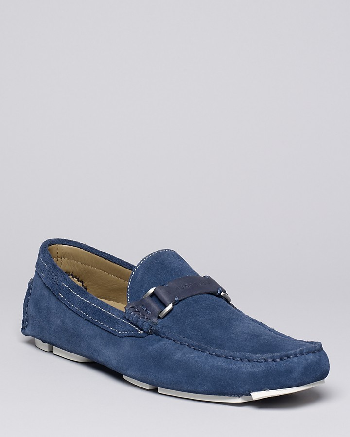 HUGO BOSS Drefinno Suede Driving Loafers