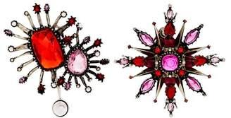 Alexander McQueen Asymmetric Oversized Stud Earrings - Womens - Pink