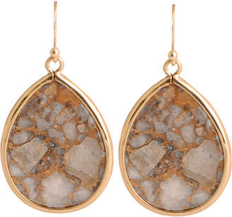 Artsmith BY BARSE Art Smith by BARSE White Calcite Teardrop Earrings