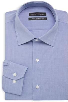 Saks Fifth Avenue Trim Fit Chambray Dress Shirt