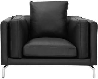 LOFT 808 Home Basil Leather Modern Armchair