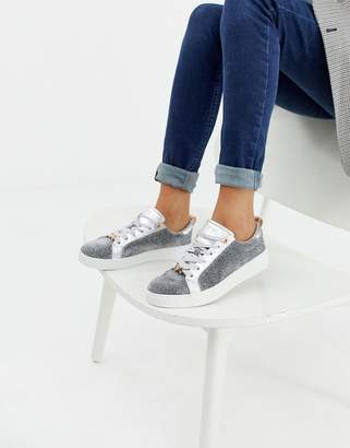 Ted Baker silver sparkle sneakers