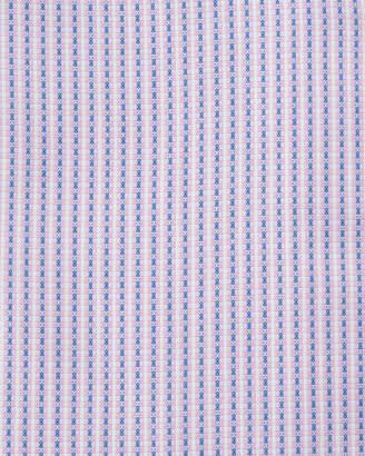 Neiman Marcus Trim-Fit Regular-Finish Striped Dress Shirt, Pink