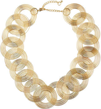 Kenneth Jay Lane Swirls-Link Necklace