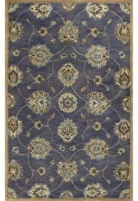 Charlton Home Blarwood Midnight Kashan Hand-Woven Wool Area Rug