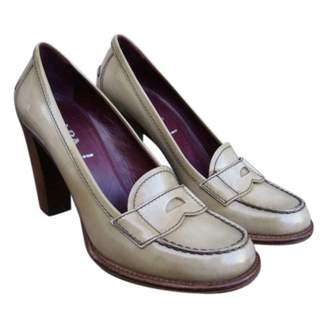 Prada Beige Patent leather Flats