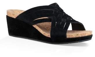 1850a579988 UGG Lilah Strappy Suede Wedge Platform Sandal
