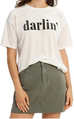 Miss Shop Graphic Velvet Tee Darlin Mscw18202