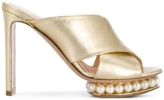 Nicholas Kirkwood Casati pearl platform mules