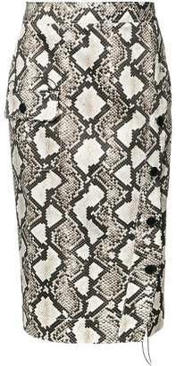 Altuzarra snake-effect pencil skirt