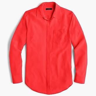 J.Crew Petite silk button-up shirt