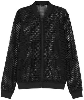 Koral Activewear Base Black Mesh Bomber Jacket