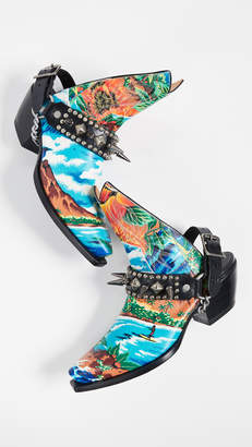 R 13 Hawaiian Printed Ankle Half Cowboy Boots