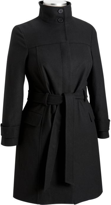 Women's Plus Wool-Blend Trench Coats