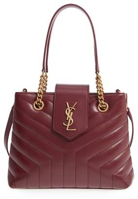 Saint Laurent Small Loulou Matelasse Calfskin Leather Shopping Tote