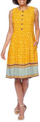 Rabbit Rabbit Rabbit DESIGN Design Sleeveless Bordered Fit & Flare Dress