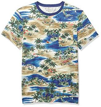 J.Crew Mercantile Men's Short-Sleeve Tropical Print Crewneck T-Shirt