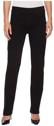 Liverpool Jillian Straight Pull-On in Premium Super Stretch Denim in Black Rinse Women's Jeans