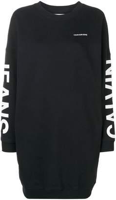 Calvin Klein Jeans logo print jumper dress