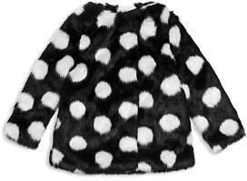 Kate Spade Girls' Polka Dot Faux-Fur Coat - Little Kid