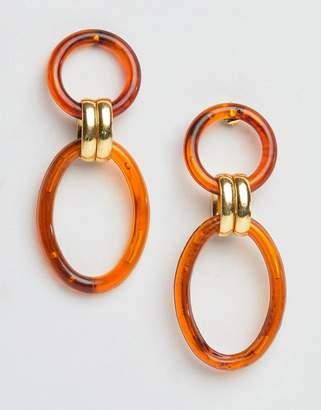 Gogo Philip resin hoop link earrings
