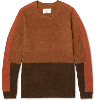 Folk Panelled Wool and Cotton-Blend Sweater