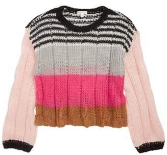 Tucker + Tate Bubble Sleeve Stripe Sweater