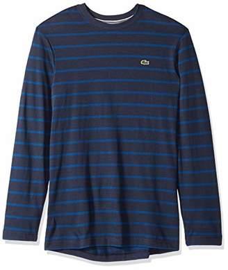 Lacoste Men's Long Sleeve Reg Fit Striped Tee