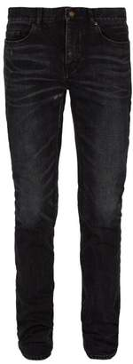 Saint Laurent Mid Rise Skinny Fit Jeans - Mens - Black