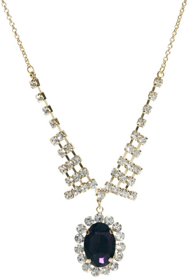 Asos Jewel Cameo Necklace