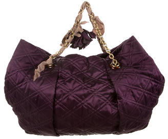 Lanvin Large Quilted Satin Tote $325 thestylecure.com