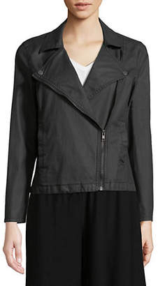 Eileen Fisher Cropped Moto Zip Jacket