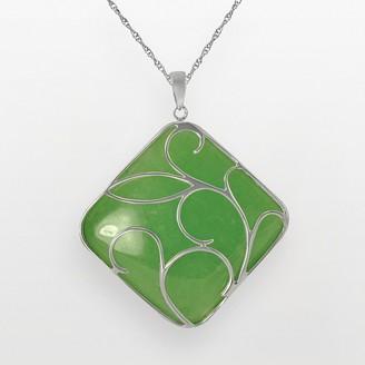 Sterling Silver Jade Pendant
