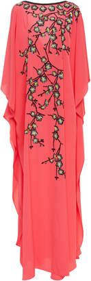 Joanna Mastroianni Embroidered Cherry Blossom Caftan